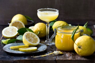 Lemon curd cocktail